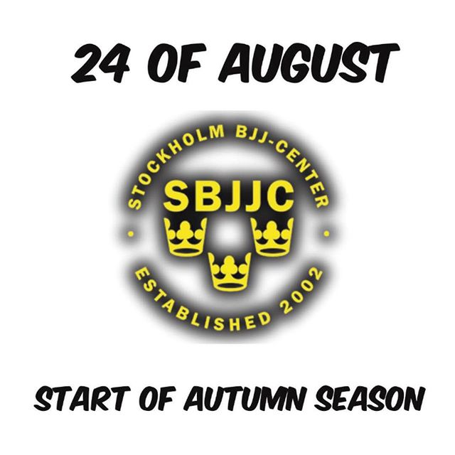 We're looking forward to welcome you to this autumn season at us #StockholmBjjCenter ! Fantastic training for every one, starting from 6 years and up!For more info, please visit BjjCenter.se Magnusladulåsgatan 32DStockholm SwedenLove & Respect #Stockholm #Sweden #Träning #BjjSweden #MmaSweden #Hälsa