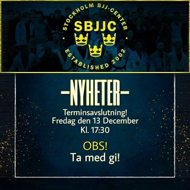 TERMINSAVSLUTNING!Fredag den 13 December ----OBS!----TA MED GI ?